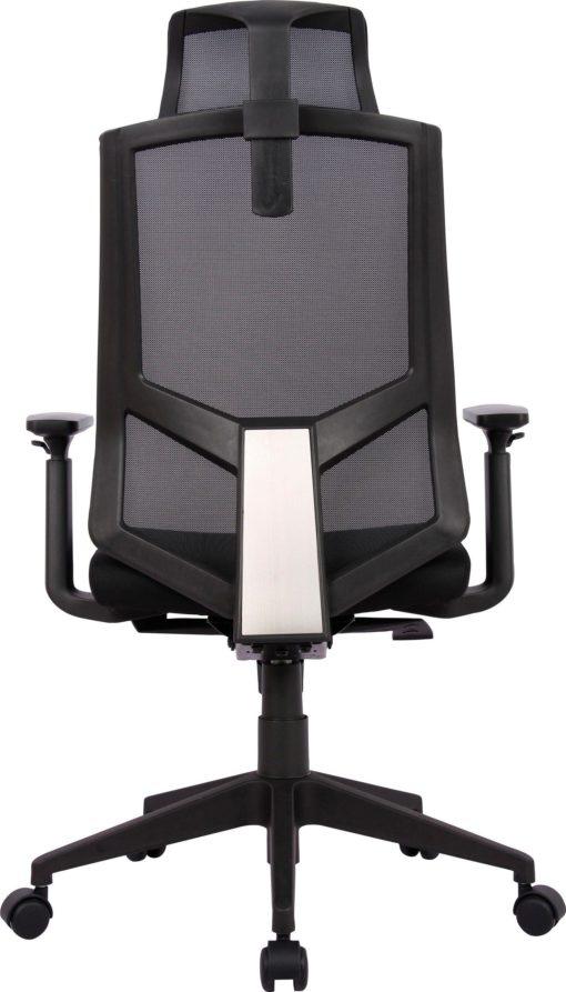 Fotel biurowy czarny, regulowany, obrotowy