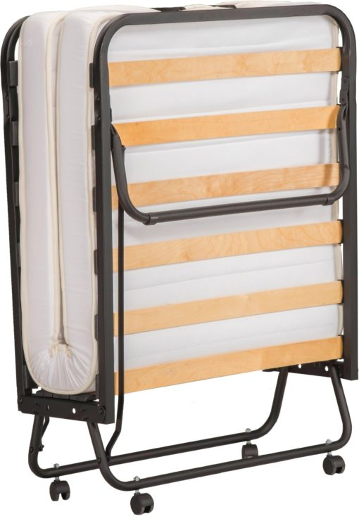 Łóżko polowe, składane z materacem i pokrowcem