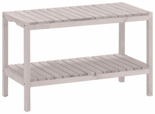 Biały regał/ ławka z drewna sosnowego