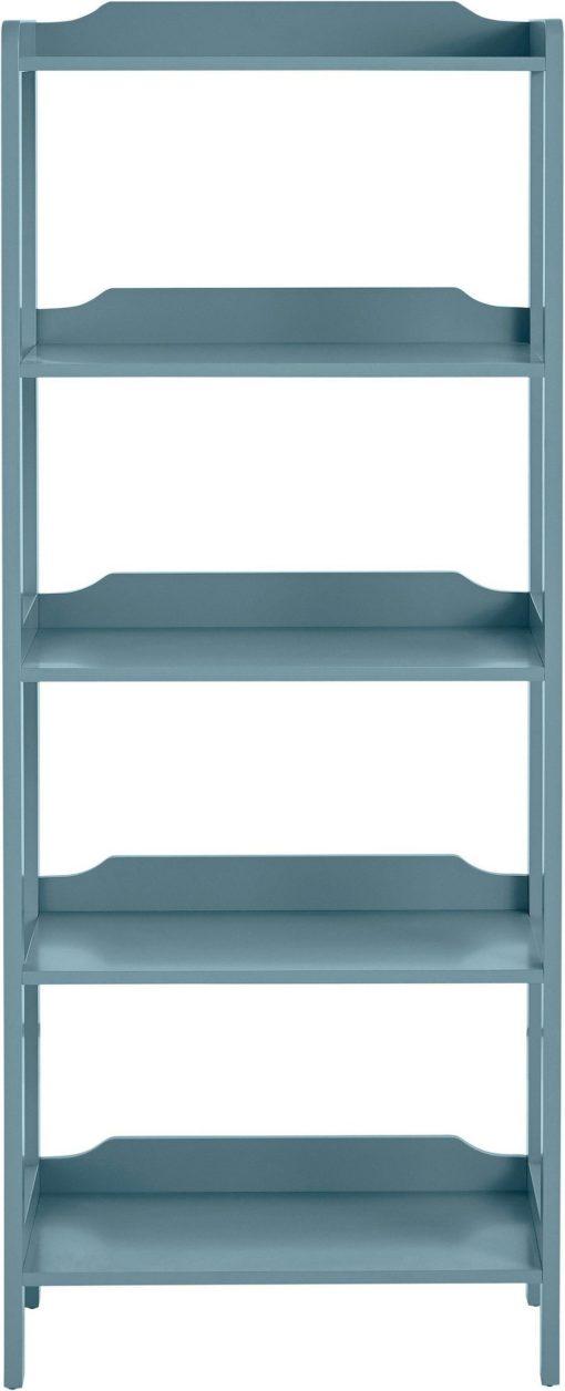 Modny regał z czterema półkami, antyczny niebieski