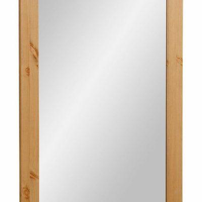 Duże lustro w sosnowej, naturalnej ramie, styl rustykalny