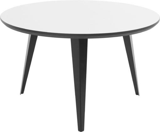 Stolik w lekkim, skandynawskim stylu, czarno-biały