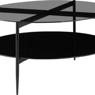 Ekstrawagancki okragły stolik, metal i szkło
