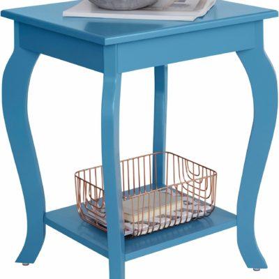 Dekoracyjny stolik w romantycznym stylu, niebieski