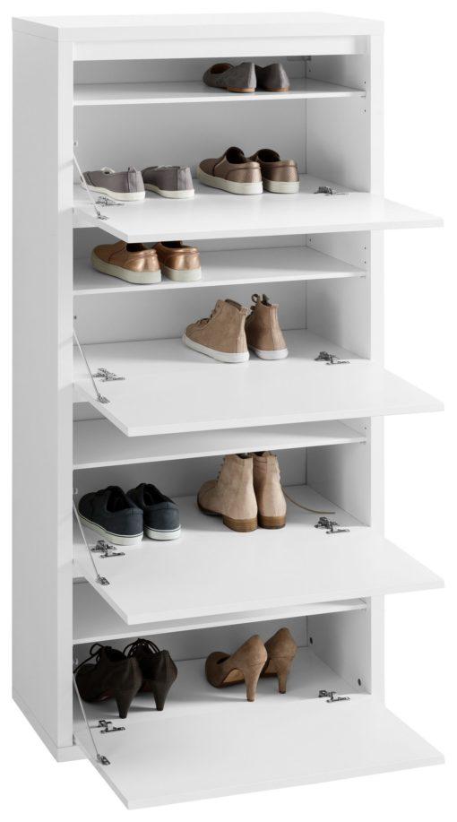 Przestronna szafka na buty -fronty w połysku