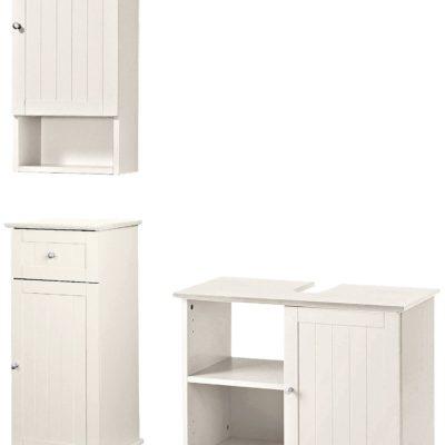 Meble łazienkowe, białe z sosny, szafki łazienkowe sosnowe