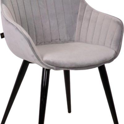 Wygodne, szare krzesła na metalowych nogach - 2 sztuki