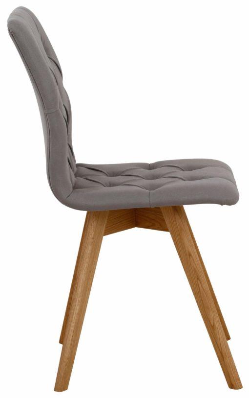 Zestaw nowoczesnych krzeseł z pięknym tapicerowaniem - 4 sztuki