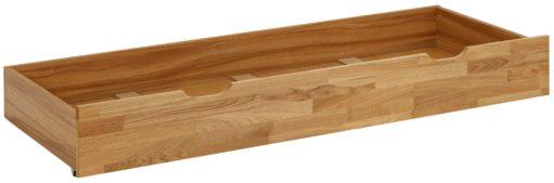 Szuflada pod łóżko z frontem z drewna dębowego