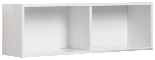 Półka ścienna w kolorze białym, w połysku