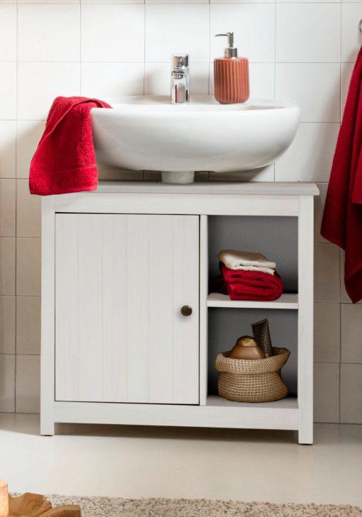 Szafka pod umywalkę sosnowa w prowansalskim stylu