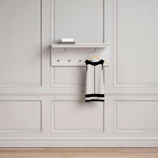 Uroczy wieszak na ubrania, biały, bardzo elegancki