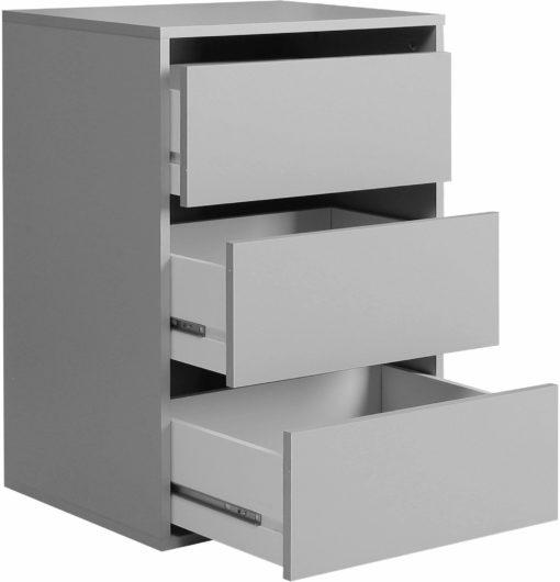Wkład do szafy FORTE z trzema szufladami, szary