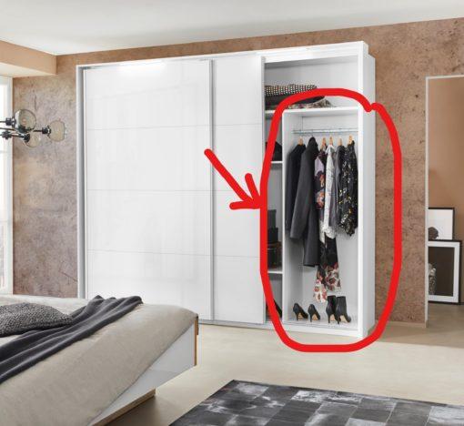 Wnętrze do podziału szafy, półki i drążek na ubrania