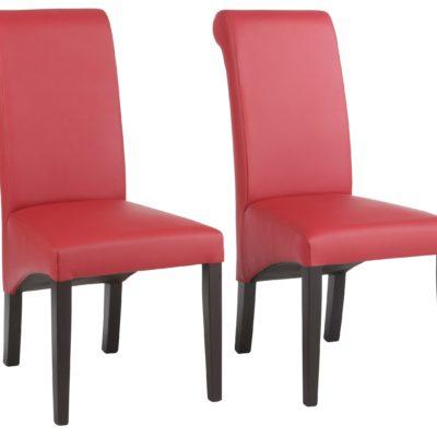 Eleganckie, tapicerowane krzesła - 2 sztuki, czerwone