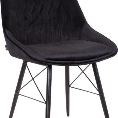 Czarne krzesła w stylu retro - zestaw 4 sztuki