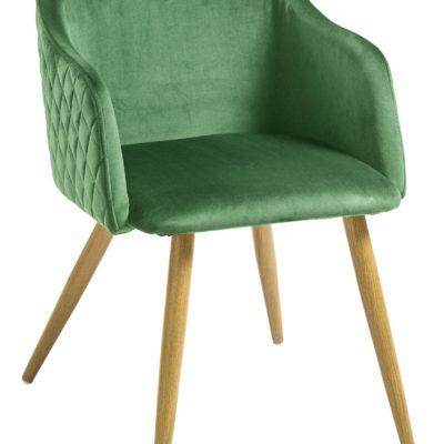 Krzesła w modnym odcieniu zieleni - 2 sztuki
