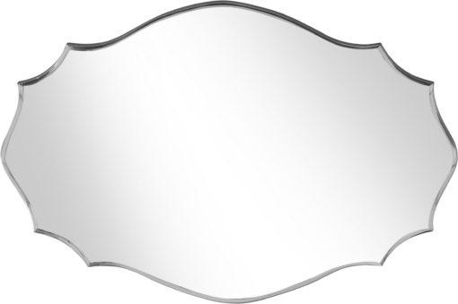 Stylowe, ręcznie wykonane lustro bez ramy