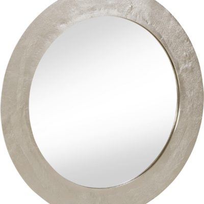 Nowoczesne, okrągłe lustro, ręcznie patynowane