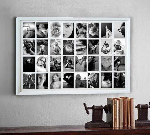 Duża ramka do kolażu zdjęć, aż na 32 fotografie