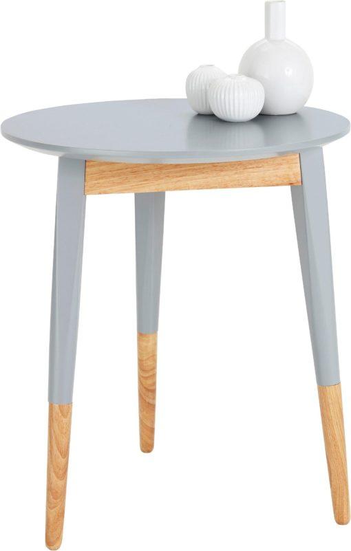 Zgrabny stolik w skandynawskim stylu, szary