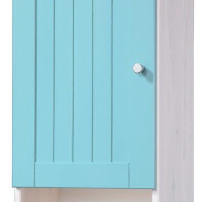 Sosnowa, wisząca szafka łazienkowa w stylu landhaus