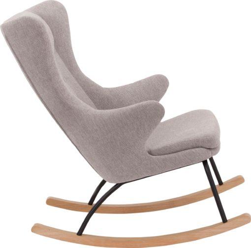 Fotel bujany w skandynawskim stylu, jasnoszary