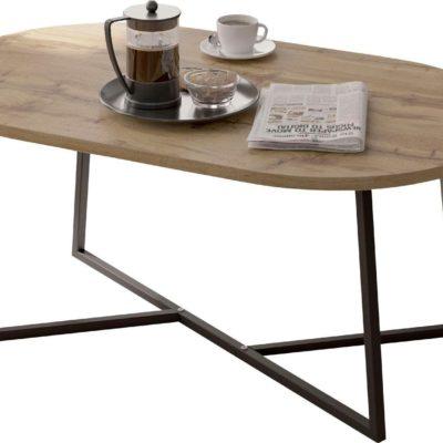 Stolik kawowy o ciekawym kształcie, w stylu industrialnym