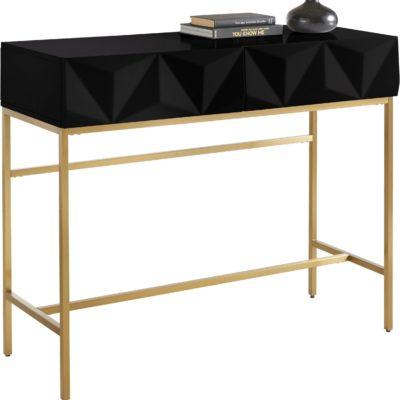 Niezwykły kredens/stolik w stylu vintage, czarny