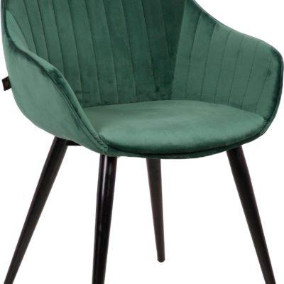 Wygodne, zielone krzesła na metalowych nogach - 2 sztuki