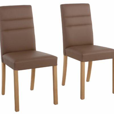 Eleganckie krzesła Lona - zestaw 2 sztuki, kolor taupe