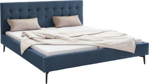 Szlachetne, tapicerowane łóżko, granat 180x200 cm