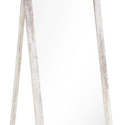 Dekoracyjne, stojące lustro w stylu shabby chic
