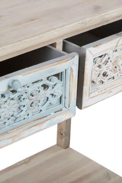 Konsola w azjatyckim stylu stylizowana na stary mebel
