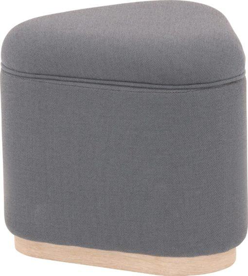 Beżowy pouff ze schowkiem w skandynawskim stylu