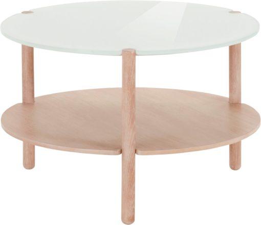 Stolik w skandynawskim stylu ze szklanym blatem
