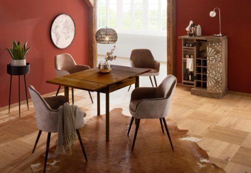 Sosnowy stół z funkcją przedłużenia blatu, kolonialny