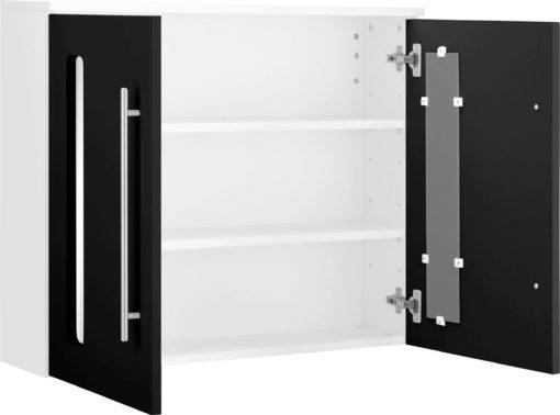Dwudrzwiowa szafka wisząca z półkami