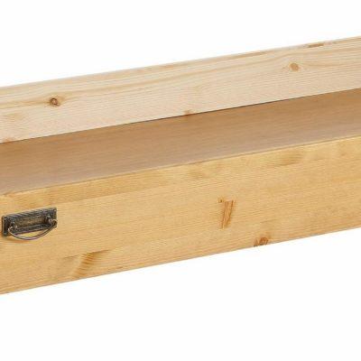Sosnowa szuflada pod łóżko w rustykalnym stylu