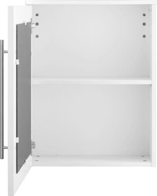 Wisząca szafka łazienkowa z lustrem na drzwiach
