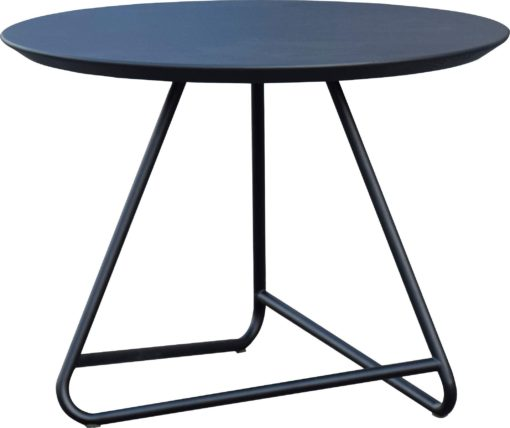 Czarny stolik z jesionowym blatem w stylu skandynawskim