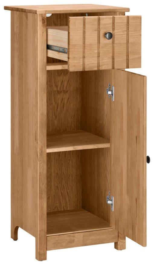 Sosnowa szafka stojąca bardzo praktyczna