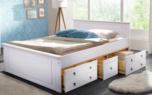 Sosnowa rama łóżka 180x200 cm, biała