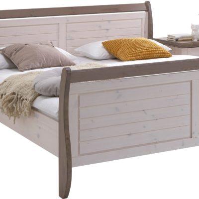 Sosnowe łóżko z zakrzywionymi nogami 180x200 cm