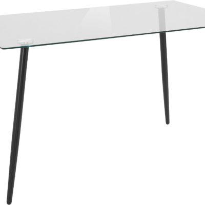 Szklany stół na metalowych nogach 140 cm