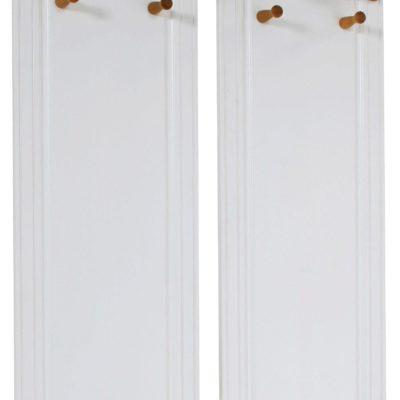 Dwa sosnowe wieszaki biało-miodowe
