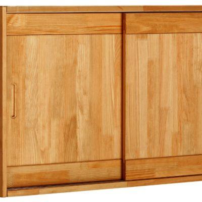 Sosnowa szafka wisząca z półkami, drewno olejowane