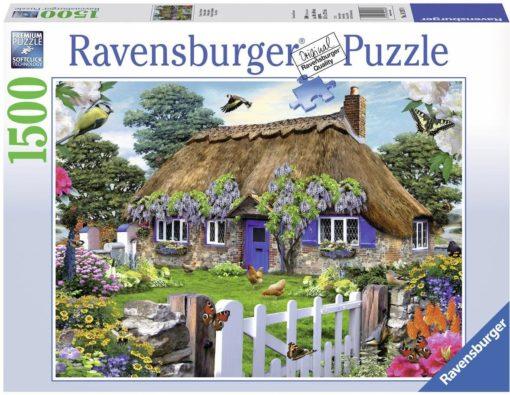 Puzzle z 1500 elementów Domek w Anglii, Ravensburger