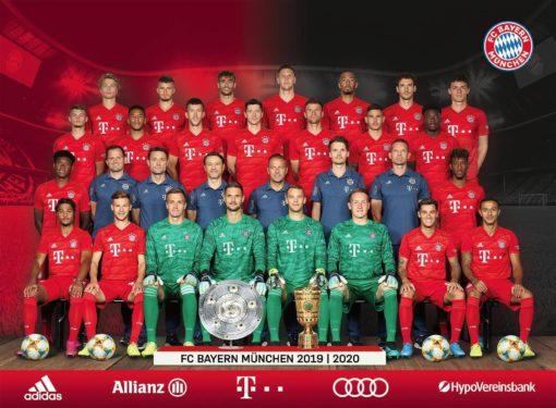 Puzzle z 1000 elementów FC Bayern sezon 19/20