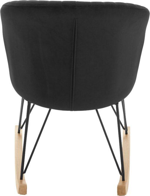 Magiczny fotel bujany z pikowanym oparciem, czarny